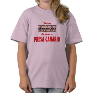 Lucky to Own a Presa Canario Fun Dog Design Shirts