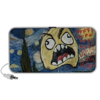 Rage Face Meme Face Comic Classy Painting Notebook Speakers