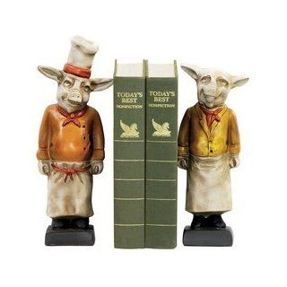 Sterling Industries 4 303300 Pair Chef Pig Bookends