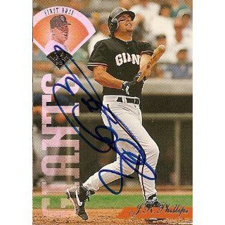 J.R. Phillips Signed San Francisco Giants 95 Leaf Card