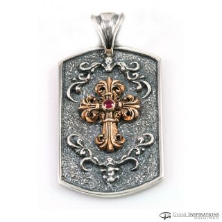Holy Cross Pendant (High Quality Silver, Bronze, Ruby)