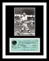 Home Run Baker Signed Check Display Ready 2 Frame