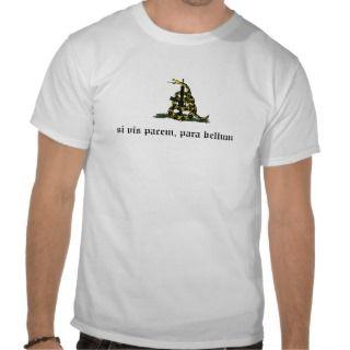 snake, si vis pacem, para bellum tee shirt