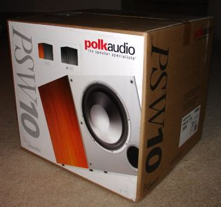 New Polk Audio PSW10 10 Powered Home Theater Subwoofer Black