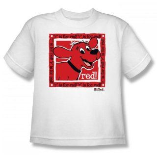 Clifford The Big Red Dog   Big Red Youth T Shirt In White