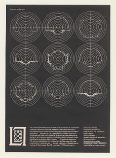 1964 Mit Lincoln Lab Missile Backscatter Patterns Ad