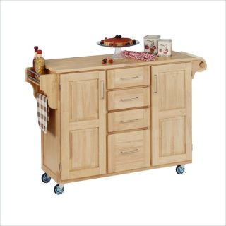 Home Styles Furniture Kitchen Cart in Natural Finish [55153]