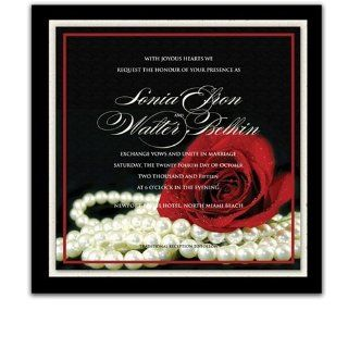 110 Square Wedding Invitations   Material Girl: Office