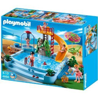 Playmobil 4858 Open Air Pool with Slide Toys & Games