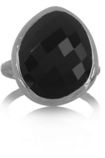 Monica Vinader Nugget sterling silver onyx ring   48% Off