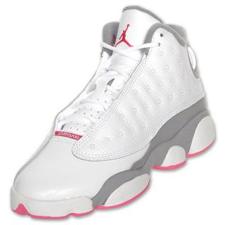 Air Jordan Retro 13 Kids Basketball Shoe White