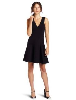 Robert Rodriguez Womens Seamed Fit and Flare Dress