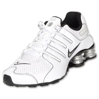 Boys Gradeschool Nike Shox NZ White/Black