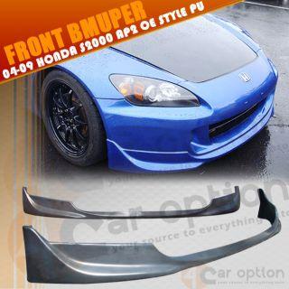 04 09 Honda S2000 AP2 OE Factory Style Black Urethane Front Bumper Lip