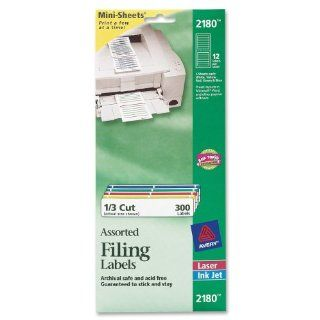 Avery Mini Sheets Labels, 3.4735 x 0.66 Inches, White with
