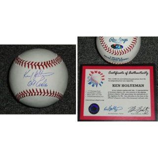 Ken Holtzman Signed MLB Baseball with 69 Cubs
