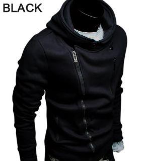 New Mens Slim Fit Zip Up Hoodies Jackets US s M L XL J5