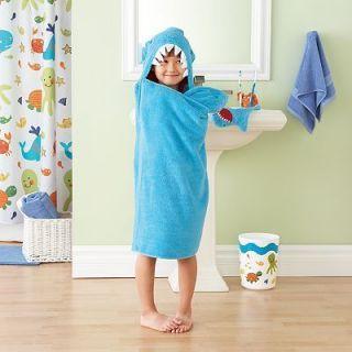New Jumping Beans Shark Hooded Bath Towel