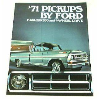 1971 71 FORD PICKUP Truck BROCHURE F100 F250 F350