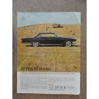1961 Buick, Vinage 60s full page prin ad. (black car