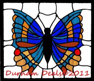 Butterfly Stained Glass Latch Hook Pattern ♦durhamdeals