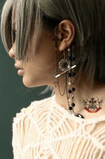 Gothic Doll Romantic Wrought Gem Cameo Pearl Earring E