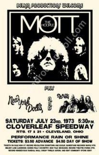 Mott The Hoople New York Dolls Cleveland Concert Poster