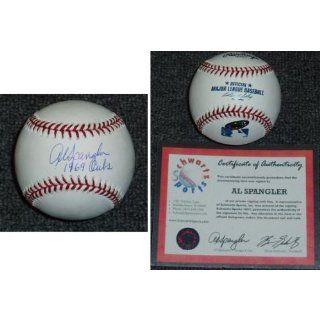 Al Spangler Signed MLB Baseball w/69 Cubs
