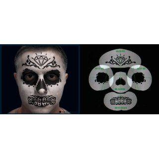 Nixs Coll Sugar Skull Basic #4 Airbrush Makeup Face