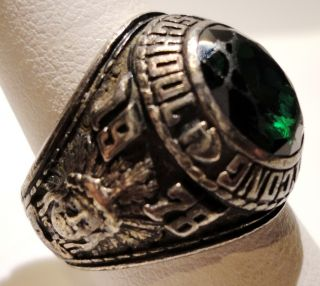 JOSTENS 925 Sterling Silver Hopatcong 1978 High School Class Ring SZ 8