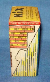 Nice Small Vtg Dated 1946 General Mills Kix Cereal Sample Size Box