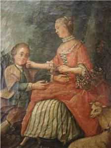 Large 18thC French Provincial School Oil Painting on Canvas