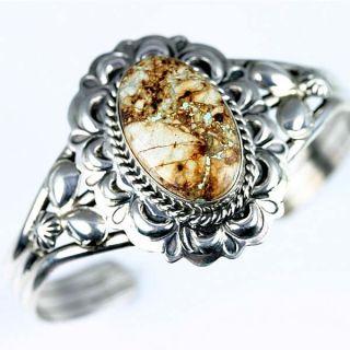 Native American Jewelry Boulder Turquoise Bracelet