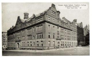 Horace Mann School Teachers College C Univ NYC NY