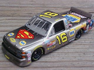Nascar Ron Hornaday Brushed Bare Metal Superman Racing Race Truck Car