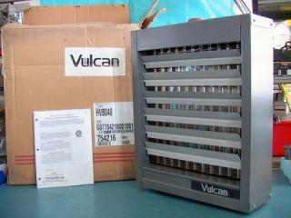 Vulcan Horizontal Air Heater Steam Hot Water 48 000 BTU HR with Fan