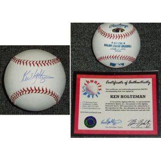 Ken Holtzman Signed MLB Baseball