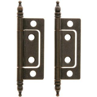 Non Mortise Hinge. Pair of 2 Non Mortise Cabinet Hinges In Oil Rubbed