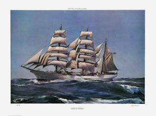 Kipp Soldwedel Coast Guard Sailboat Print USCG Eagle
