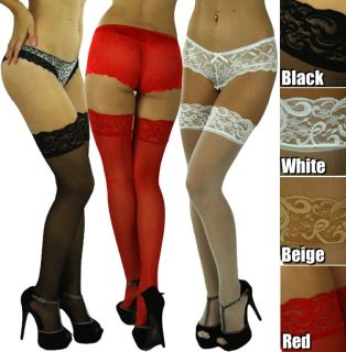 Get A Beautiful Sexy Sheer Back Seam Lace Top Stocking Thigh High