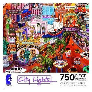 Ceaco Jigsaw Puzzle   City Lights   Las Vegas Gold II