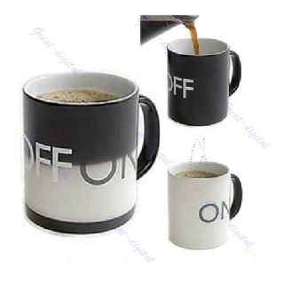 on Off Color Changing Hot Cold Heat Sensitive Mug Ceramic Cup