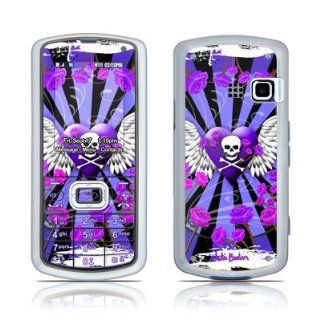Skull & Roses Purple Design Protector Skin Decal Sticker