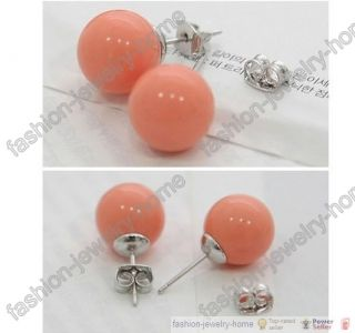 Fashion Lovely Candy Ball Stud Silver Plated Earrings Hot
