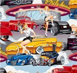 New Lamp Shade Custom Classic Hot Rods Pin Up Girls Phils Drive In