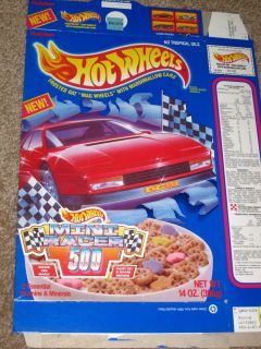Cereal Box Hot Wheels 1990 Mini Racer Grand Prix 2000 Game Ralstons
