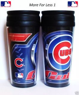 Chicago Cubs 16oz Insulated Travel Mug Hot Cold New