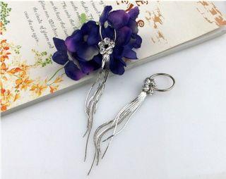 Hot Sell Jewelry Diamond Fine Earrings Eardrops Silver Tassel New