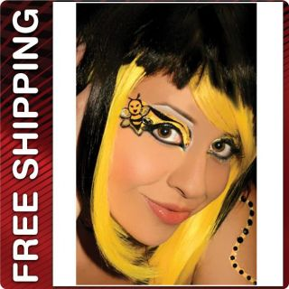 Xotic Eyes Bumble Bee Design Tattoo Costume Masquerade Halloween Make