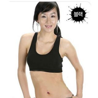 Ladies Sexy Sports Bra Vest Black White Seamless Comfort Leisure with